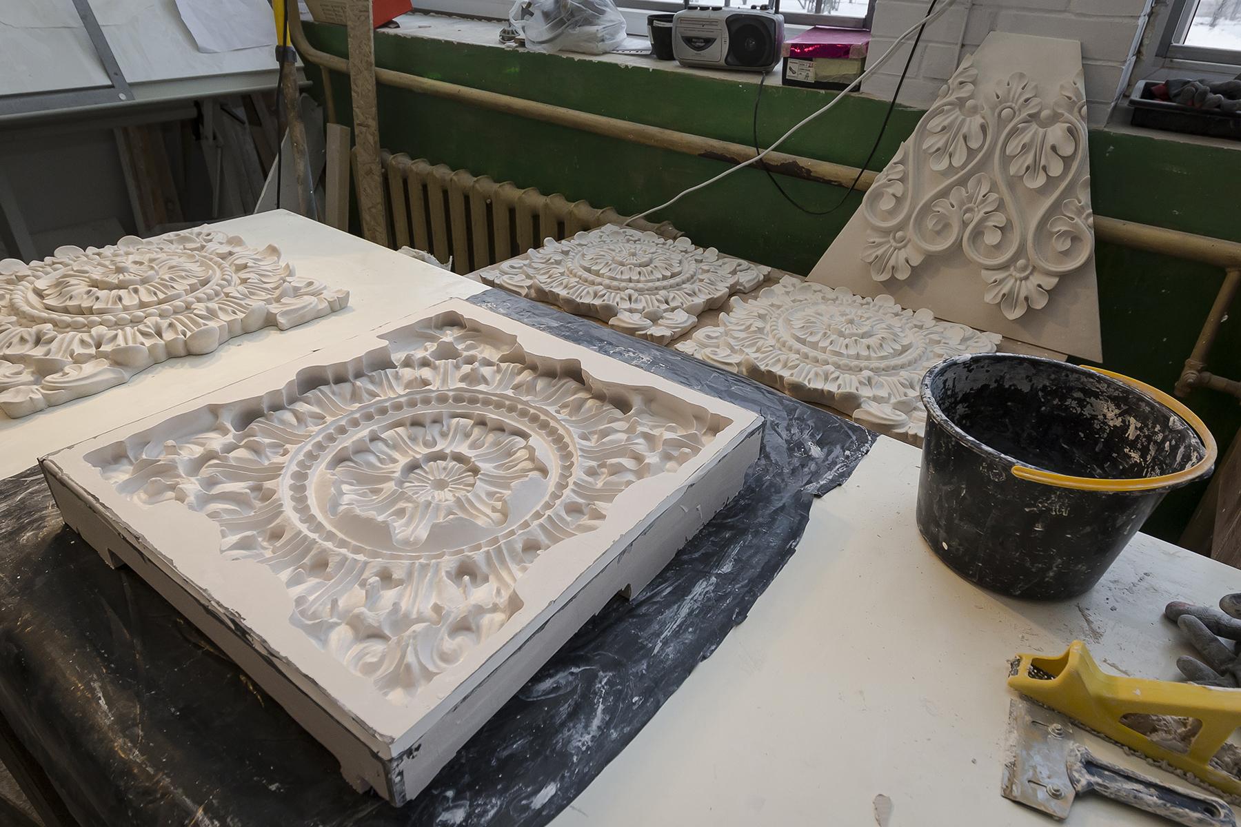 Rīgas pils dekoru atjaunošana