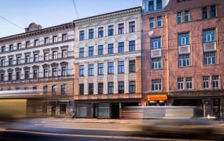 The Facade in Riga, 61 Caka Street, Has Been Renewed