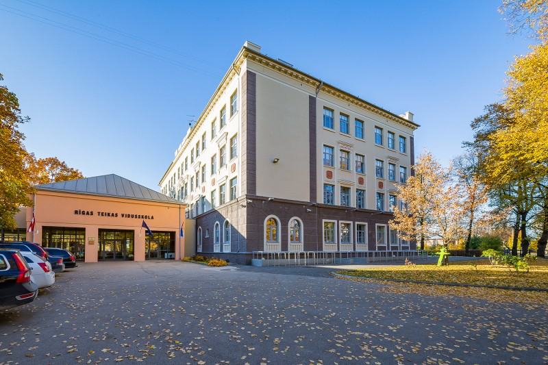 [01] Facade After Renewal (Riga Teika Secondary School)