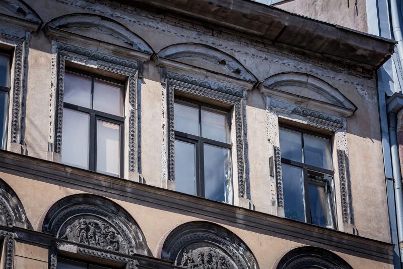 Fasāde pirms atjaunošanas Čaka 61 - 001