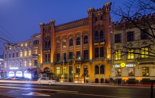Atjaunota Vācijas vēstniecības ēkas fasāde